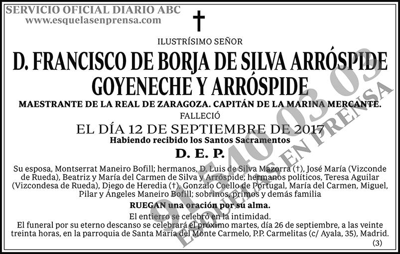 Francisco de Borja de Silva Arróspide Goyeneche y Arróspide